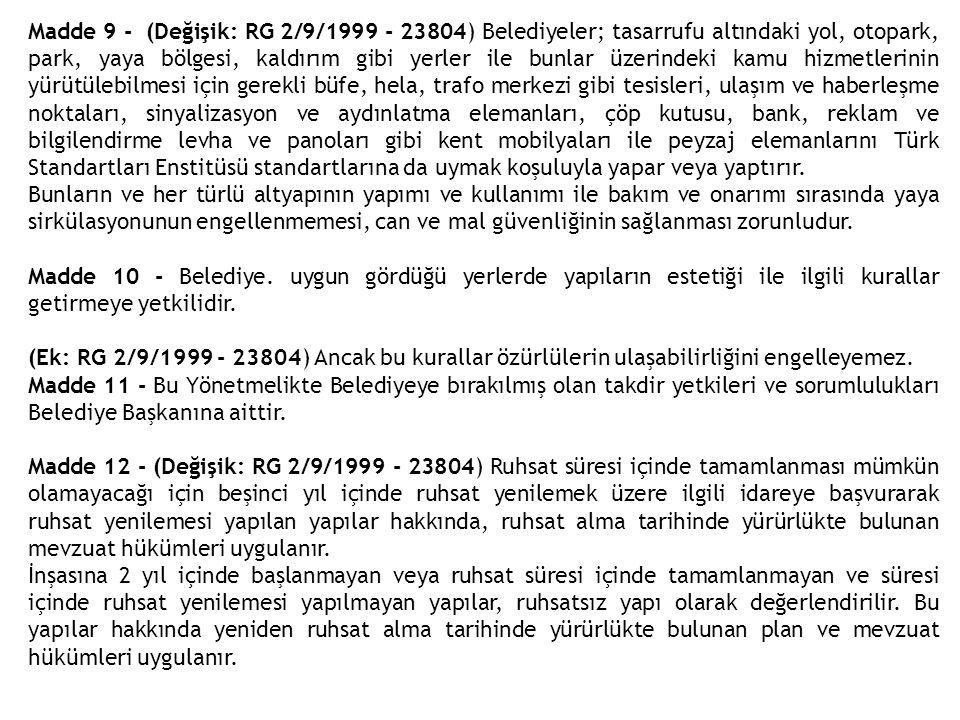 İKİNCİ BÖLÜM Tanımlar Madde 13- (Değişik: RG 2/9/1999 - 23804) Yerleşme alanı ile ilgili tanımlar: Yerleşik (meskun) alan: Varsa üst ölçek plan kararlarına uygun olarak, imar planı ile belirlenmiş ve iskan edilmiş alandır.
