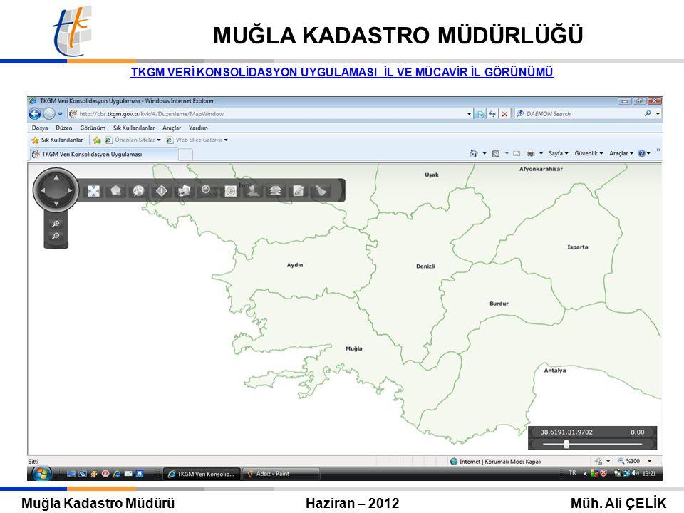 Tapu ve Kadastro Genel Müdürü Eylül 2010 – ANKARA Mehmet Zeki ADLI TAPU VE KADASTRO GENEL MÜDÜRLÜĞÜ Muğla Kadastro Müdürü Haziran – 2012 Müh.