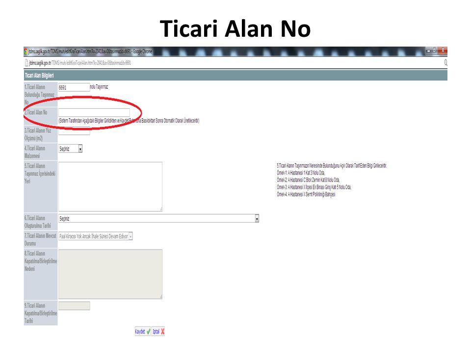 Ticari Alan No