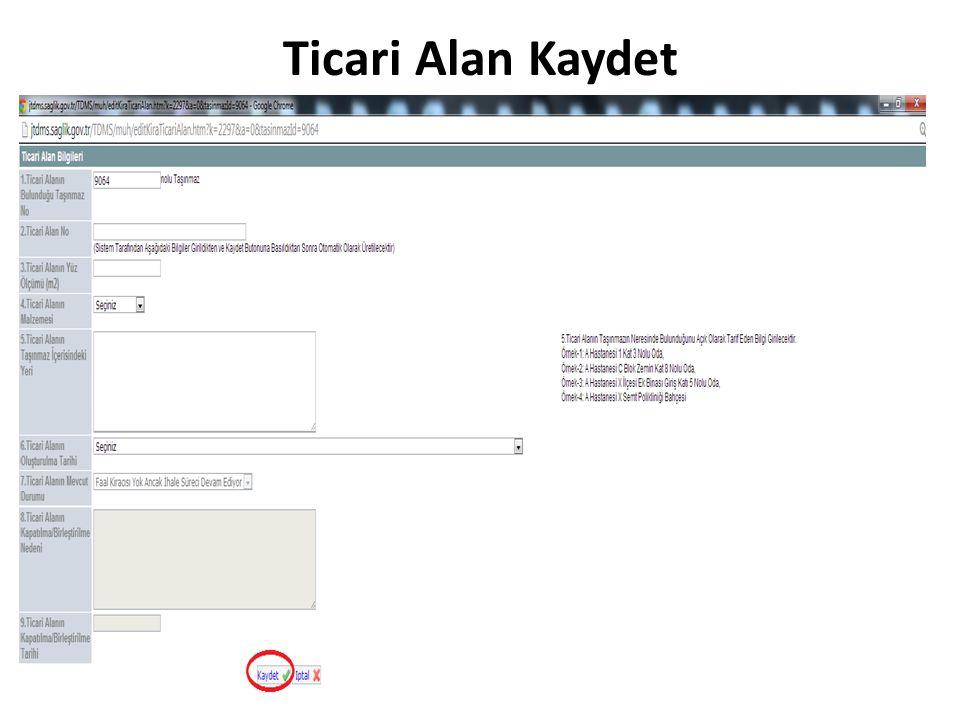 Ticari Alan Kaydet