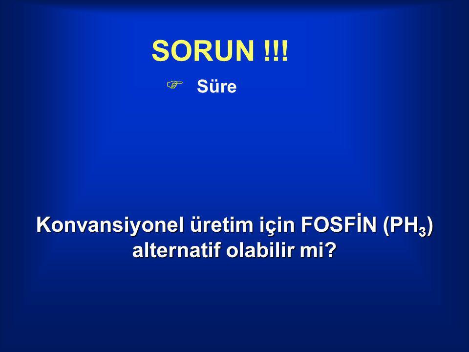 SORUN !!!  Süre Konvansiyonel üretim için FOSFİN (PH 3 ) alternatif olabilir mi?