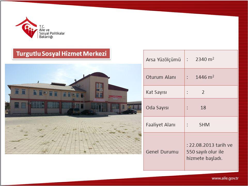 Arsa Yüzölçümü : 2340 m 2 Oturum Alanı : 1446 m 2 Kat Sayısı : 2 Oda Sayısı : 18 Faaliyet Alanı : SHM Genel Durumu : 22.08.2013 tarih ve 550 sayılı olur ile hizmete başladı.