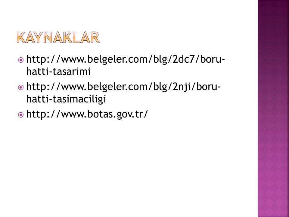  http://www.belgeler.com/blg/2dc7/boru- hatti-tasarimi  http://www.belgeler.com/blg/2nji/boru- hatti-tasimaciligi  http://www.botas.gov.tr/