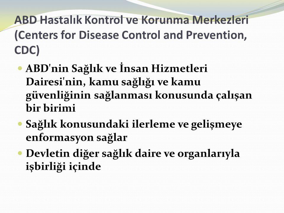 ABD Hastalık Kontrol ve Korunma Merkezleri (Centers for Disease Control and Prevention, CDC) ABD'nin Sağlık ve İnsan Hizmetleri Dairesi'nin, kamu sağl