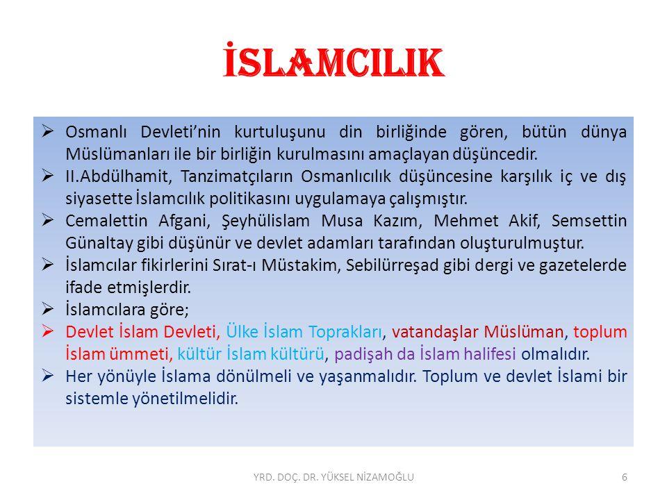 İ SLAMCILIK İslamcılar neyi savunuyorlardı. Büyük İslâm Birliği: II.