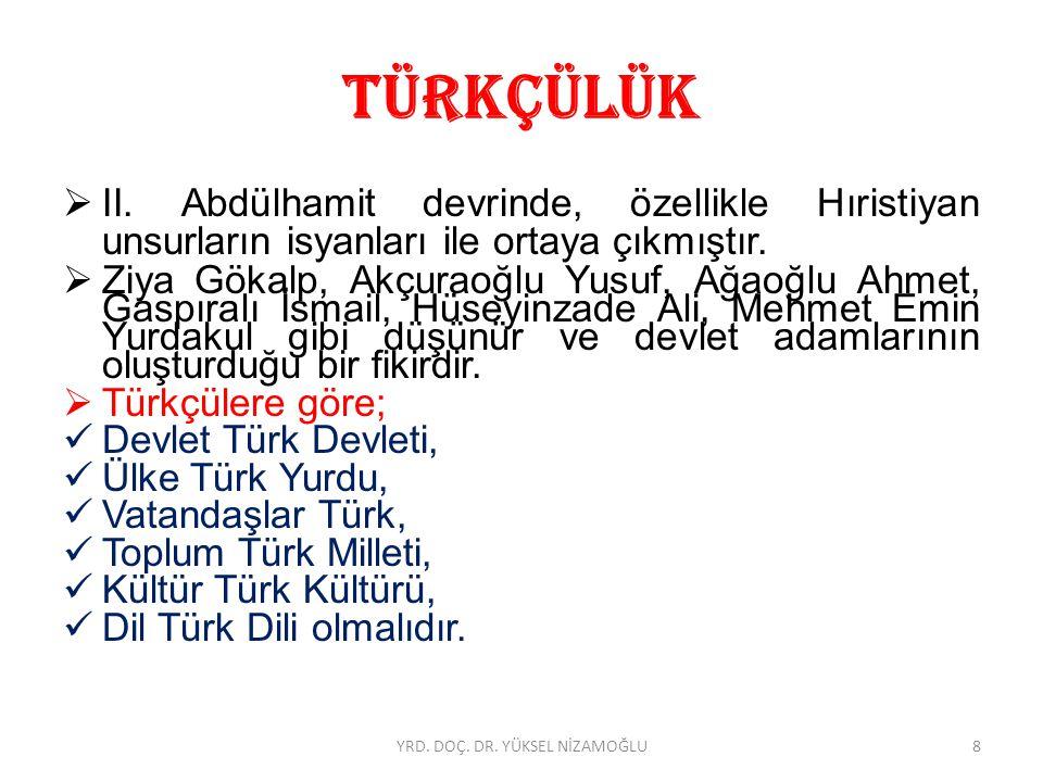 TÜRKÇÜLÜK  Türkçüler neyi savunuyorlardı.