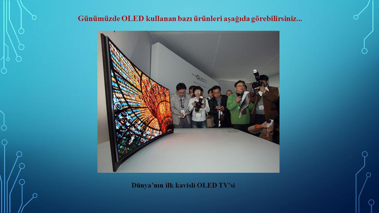 Günümüzde OLED kullanan bazı ürünleri aşağıda görebilirsiniz... Dünya'nın ilk kavisli OLED TV'si