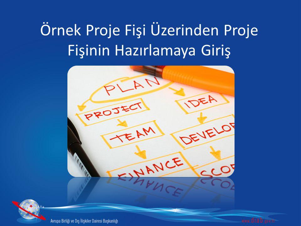 Standart Proje Fişi Formatı 3.