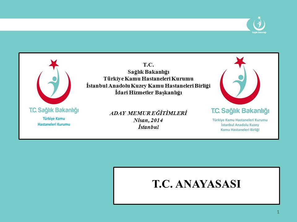 1 T.C. Sağlık Bakanlığı Türkiye Kamu Hastaneleri Kurumu İstanbul Anadolu Kuzey Kamu Hastaneleri Birliği İdari Hizmetler Başkanlığı ADAY MEMUR EĞİTİMLE