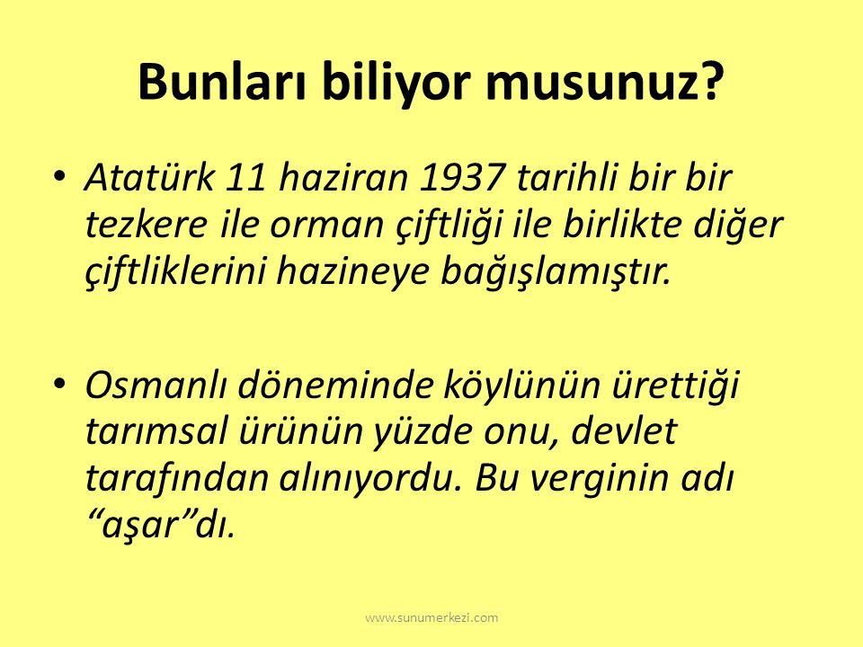 www.sunumerkezi.com ? Atatürk orman Çiftliği'nin kurulması, modern tarımı nasıl etkilemiştir?
