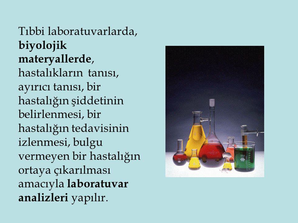 1) Kalitatif (nitel) analizler: Tanımlama testleridir; sonuçlar var-yok veya pozitif-negatif olarak ifade edilir.