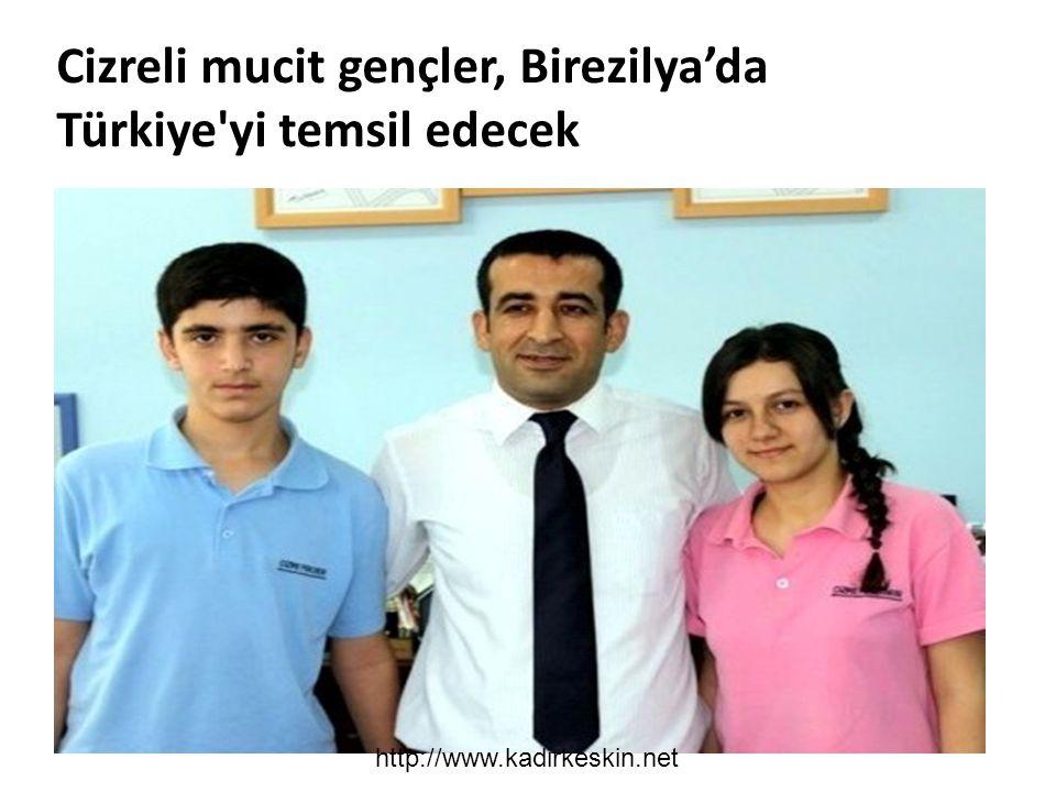Cizreli mucit gençler, Birezilya'da Türkiye'yi temsil edecek http://www.kadirkeskin.net