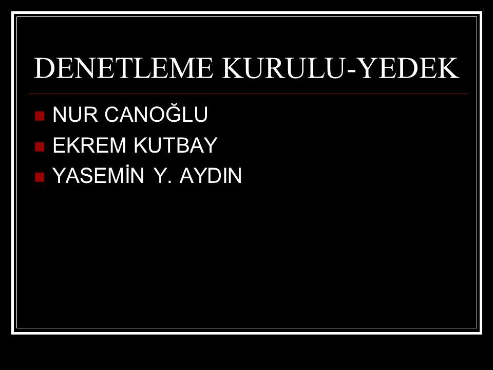 DENETLEME KURULU-YEDEK NUR CANOĞLU EKREM KUTBAY YASEMİN Y. AYDIN