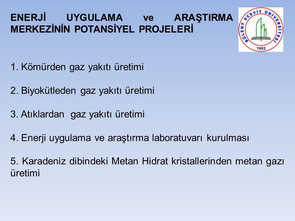 ENERJİ UYGULAMA ve ARAŞTIRMA MERKEZİNİN POTANSİYEL PROJELERİ 1.