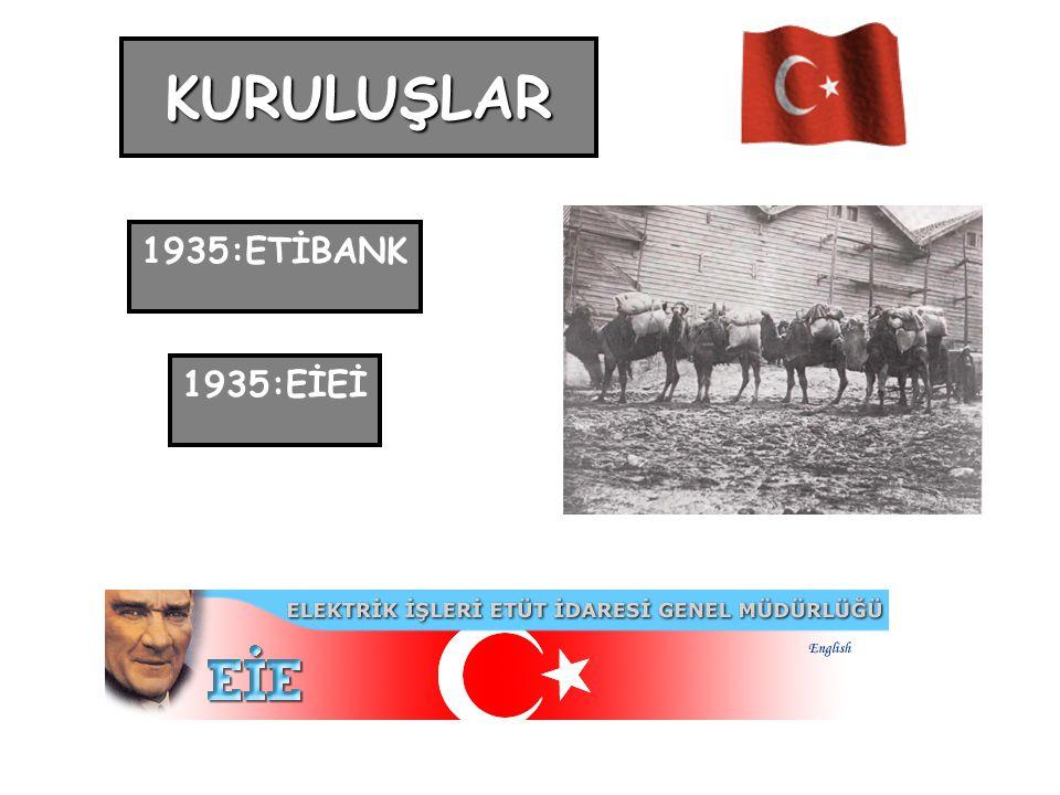 KURULUŞLAR 1935:ETİBANK 1935:EİEİ