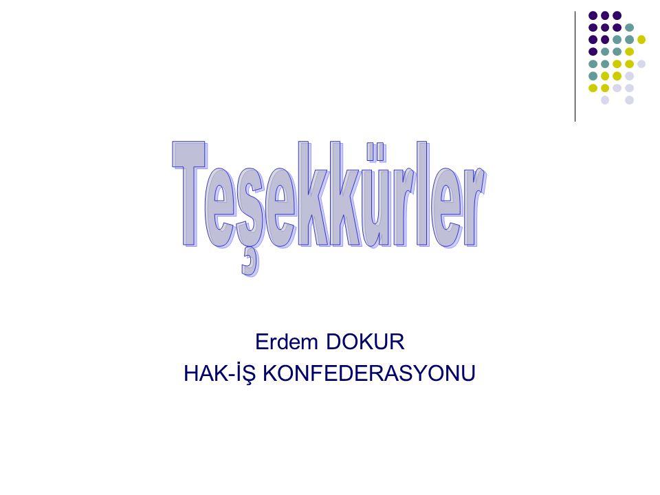 Erdem DOKUR HAK-İŞ KONFEDERASYONU