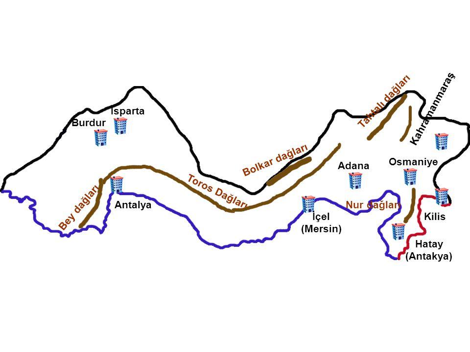 Eskişehir Ankara Kırıkkale Yozgat Sivas Kayseri Nevşehir Kırşehir Aksaray Niğde Çankırı Karaman Konya T e c e r d a ğ l a r ı Erciyes Dağı Hasan Dağı