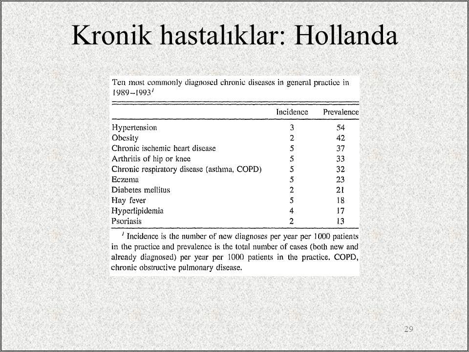 Kronik hastalıklar: Hollanda 29