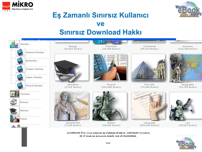 Eş Zamanlı Sınırsız Kullanıcı ve Sınırsız Download Hakkı 14