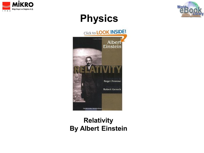Physics Relativity By Albert Einstein