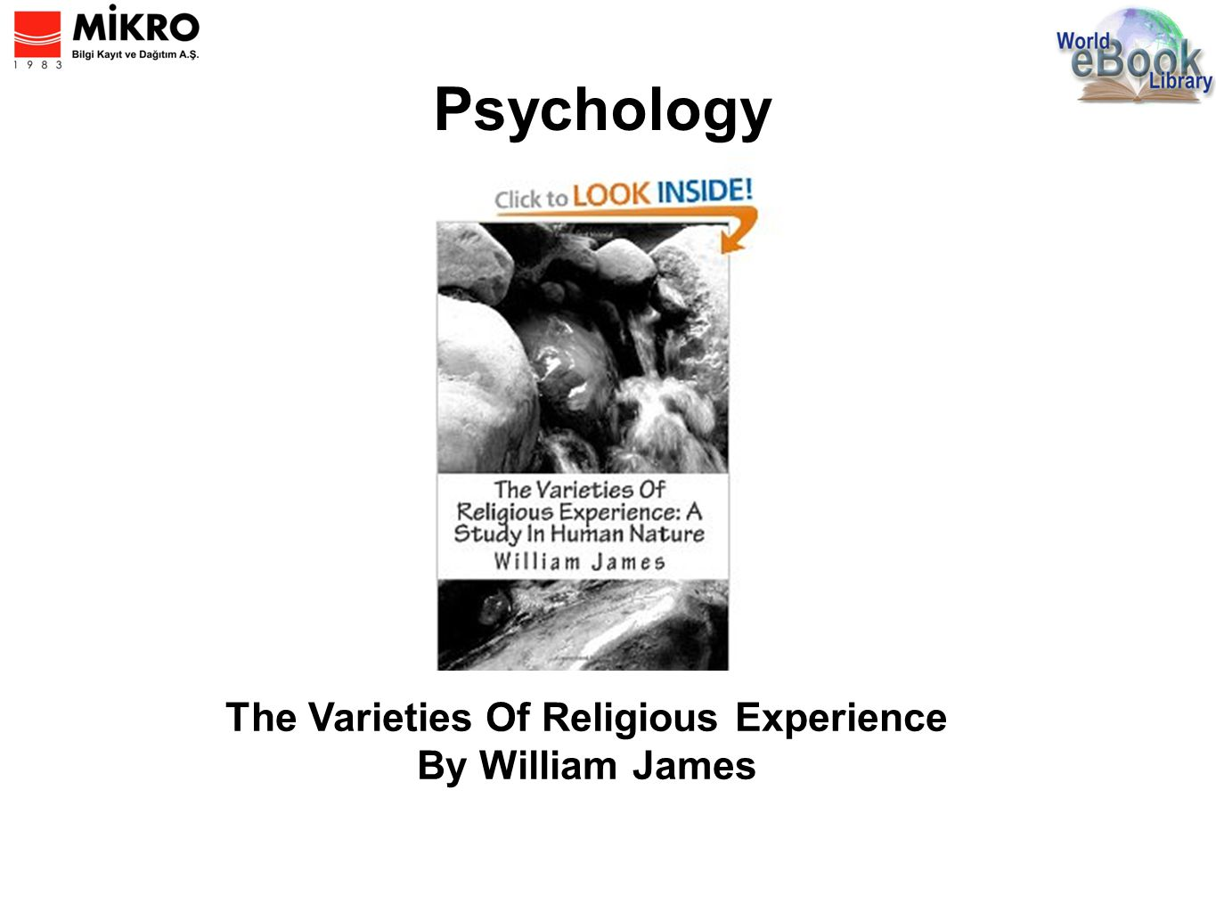 Psychology The Varieties Of Religious Experience By William James