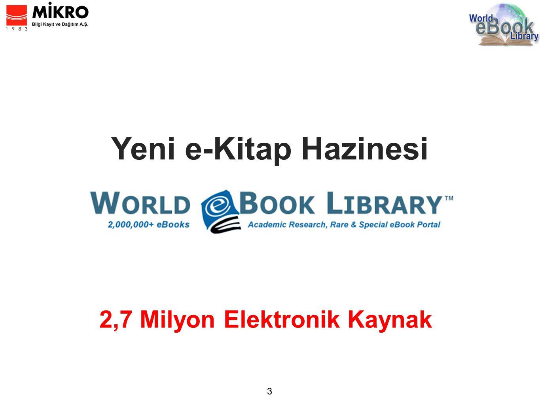 2,7 Milyon Elektronik Kaynak Yeni e-Kitap Hazinesi 3