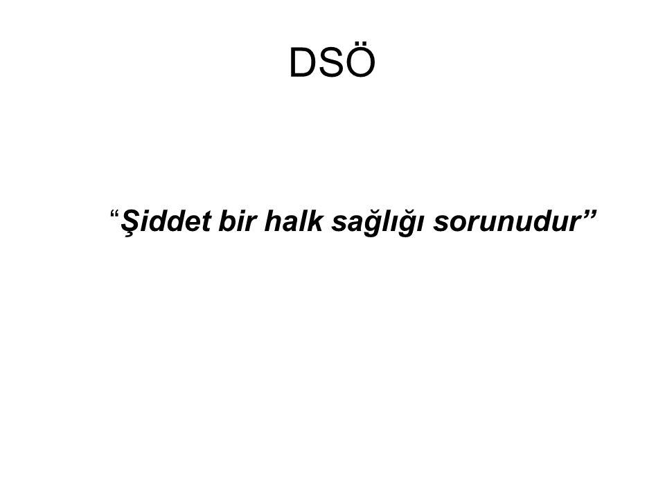 """DSÖ """"Şiddet bir halk sağlığı sorunudur"""""""
