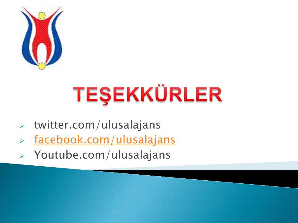  twitter.com/ulusalajans  facebook.com/ulusalajans facebook.com/ulusalajans  Youtube.com/ulusalajans