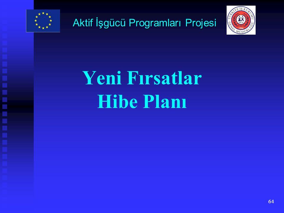 64 Yeni Fırsatlar Hibe Planı Aktif İşgücü Programları Projesi