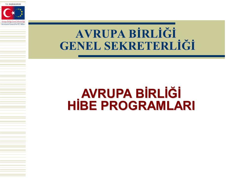 Hibe Programını Uygulayan KuruluşHibe ProgramıBütçe (Avro) Proje Sayısı 1.