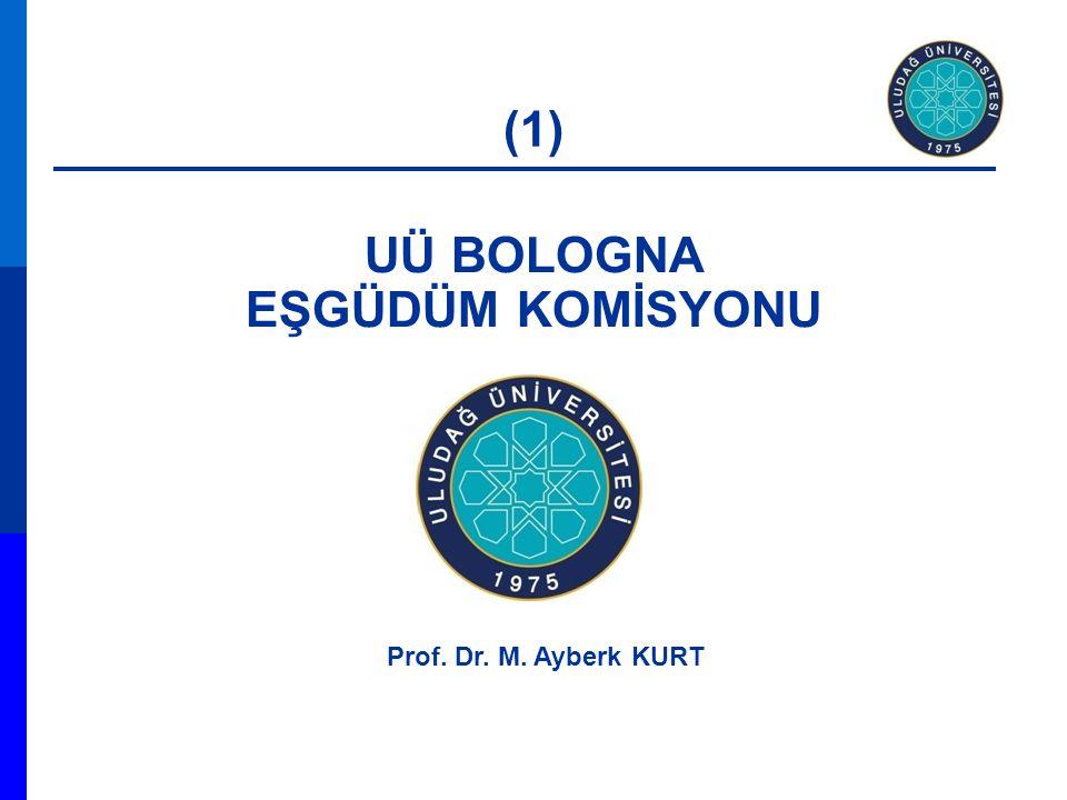 UÜ BOLOGNA EŞGÜDÜM KOMİSYONU Prof. Dr. M. Ayberk KURT (1)