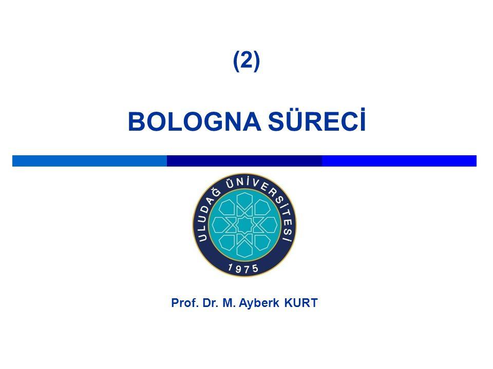 BOLOGNA SÜRECİ Prof. Dr. M. Ayberk KURT (2)