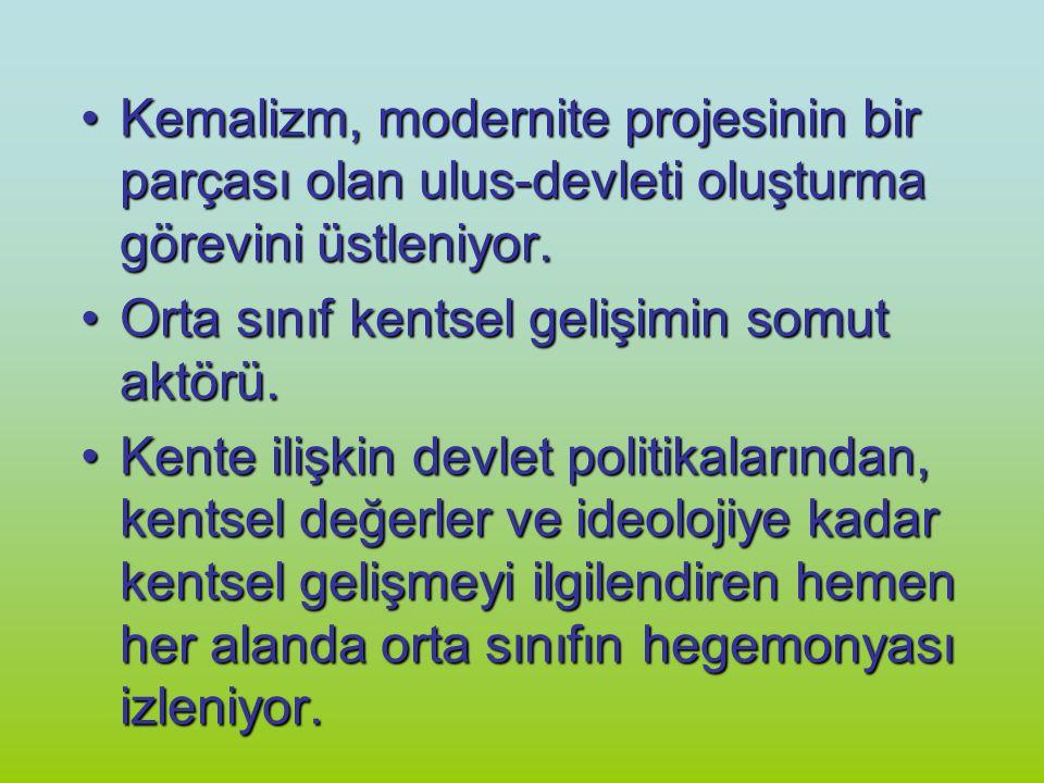 Kemalizm, modernite projesinin bir parçası olan ulus-devleti oluşturma görevini üstleniyor.Kemalizm, modernite projesinin bir parçası olan ulus-devlet