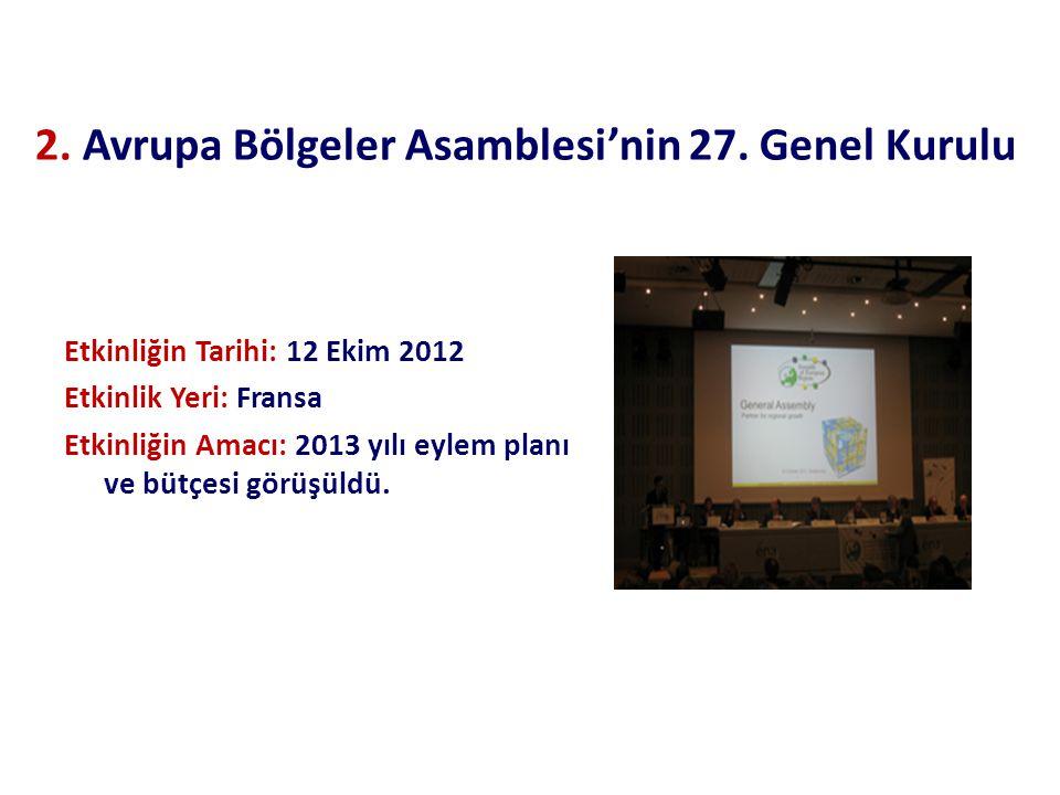 2. Avrupa Bölgeler Asamblesi'nin 27.