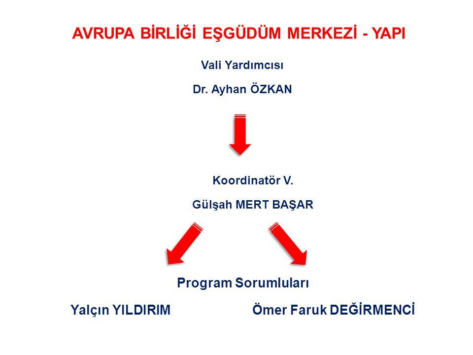 Vali Yardımcısı Dr. Ayhan ÖZKAN Koordinatör V.