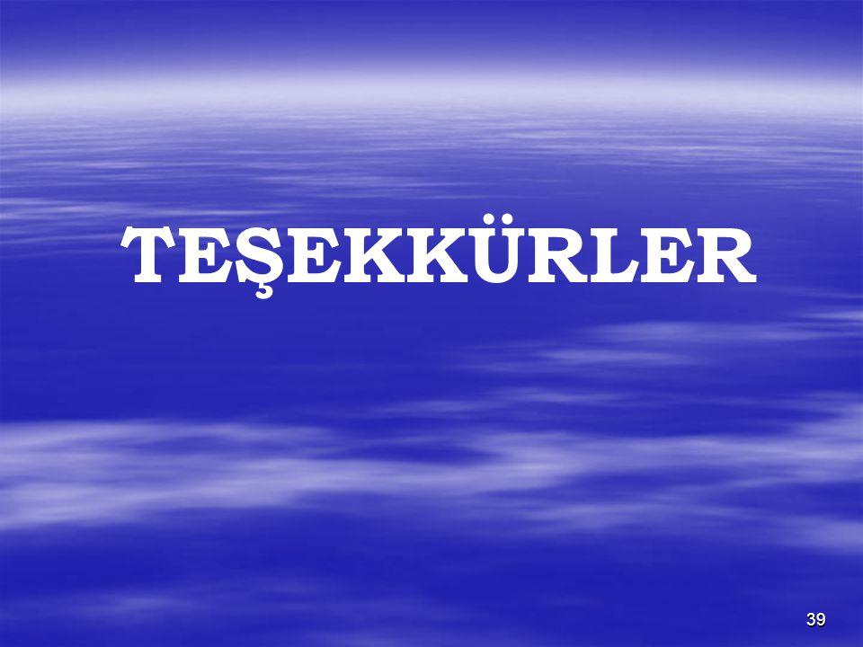 39 TEŞEKKÜRLER