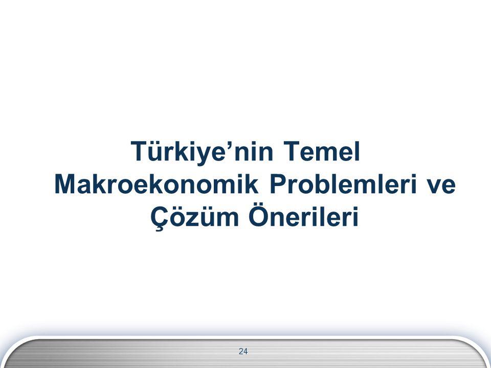 24 Türkiye'nin Temel Makroekonomik Problemleri ve Çözüm Önerileri