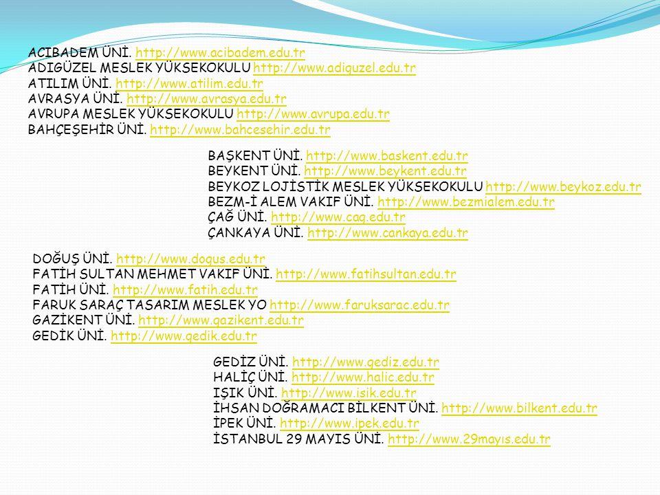 İSTANBUL AREL ÜNİ.http://www.arel.edu.trhttp://www.arel.edu.tr İSTANBUL AYDIN ÜNİ.