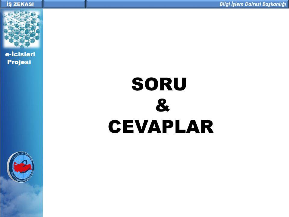 SORU & CEVAPLAR e-İcisleri Projesi