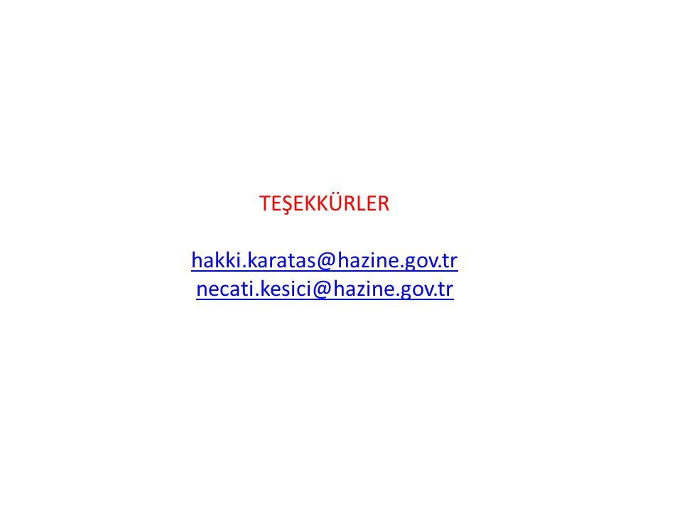 TEŞEKKÜRLER hakki.karatas@hazine.gov.tr necati.kesici@hazine.gov.tr hakki.karatas@hazine.gov.tr necati.kesici@hazine.gov.tr