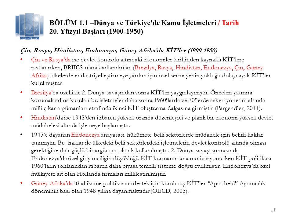 BÖLÜM 1.1 –Türkiye de Kamu İşletmeleri / Tarih Türkiye ve Avrupa'da 1980'ler ve Kamu İktisadi Teşebbüsleri / Makro Türkiye: Hazırlıksız Özelleştirme 24 Ocak 1980 tarihinde kamuoyuna açıklanan ve ekonomide köklü ve yapısal dönüşümleri içeren ekonomik istikrar programı ile: Tarım ürünleri destekleme alımları sınırlandırılmış, // Toprak ve Tarım reformu tamamlanamadan Dış ticaret serbestleştirilmiş, // İthal ikameci sanayileşmede katma değer üretilemeden Yabancı sermaye yatırımları teşvik edilmiş, // Yerli sermaye yatırımlarının tabana yayılması tamamlanamadan Kâr transferlerine kolaylık sağlanmış, // Yabancı vergilendirme ve yerel yatırım mekanizması oluşturulamadan İthalat kademeli olarak serbestleştirilmiş, İhracat; vergi iadesi, düşük faizli kredi, imalatçı ihracatçılara ithal girdide gümrük muafiyeti sektörlere göre farklılaşan teşvik sistemi ile özendirilmiş, // Ara malı bağımlılığına tedbir alınamadan Devletin ekonomideki payını, KİT'lere sahiplik de dahil, küçülten önlemler için özelleştirme ülke gündemine alınmıştır. (Doğan, 2012) 12