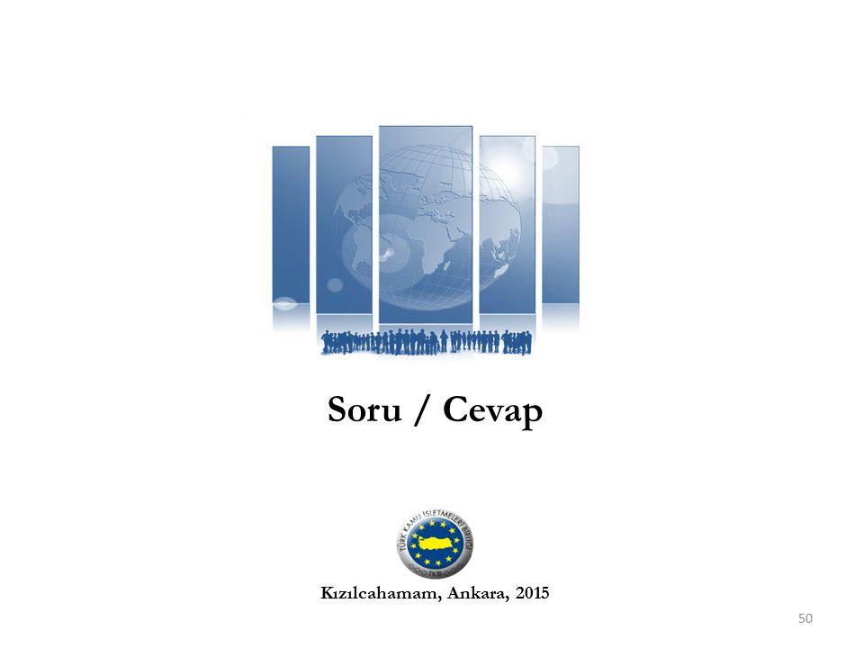 Soru / Cevap 50 Kızılcahamam, Ankara, 2015