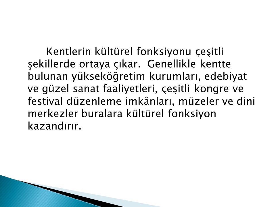  İdari şehirler: Ankara ( başkent ), İstanbul, Bursa, Konya, Edirne (geçmişte başkent olmaları)  Başkentler : Bir devletin hükümet ve parlementosunun yerleştiği, devlet başkanının oturduğu idari ve siyasi merkeze başkent denir.