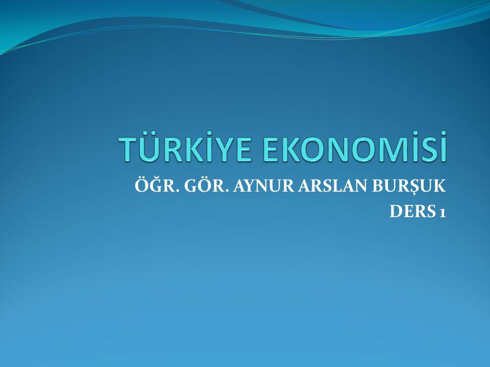 TÜRKİYE Türkiye Ekonomisinin bugünkü yapısı tarihsel gelişme süreci içinde açıklanabilir.