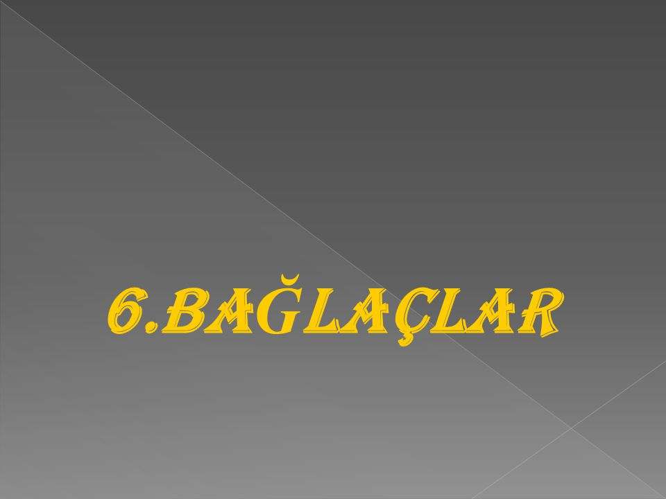 6.BA Ğ LAÇLAR