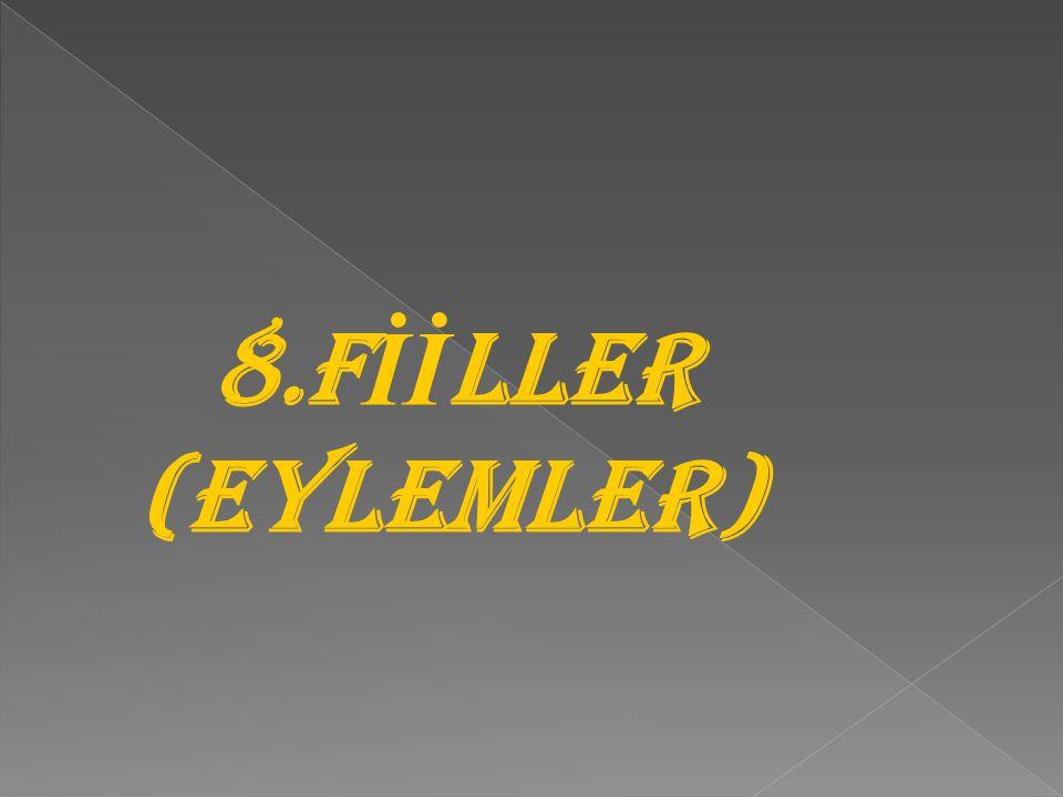 8.F İİ LLER (EYLEMLER)
