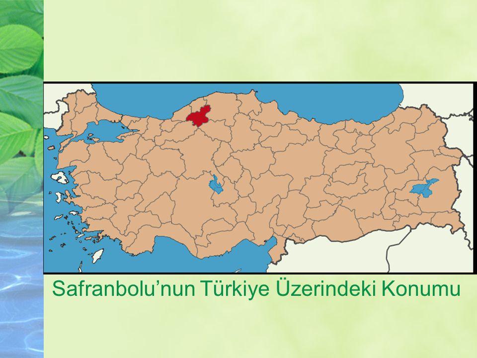 Safranbolu'nun Türkiye Üzerindeki Konumu
