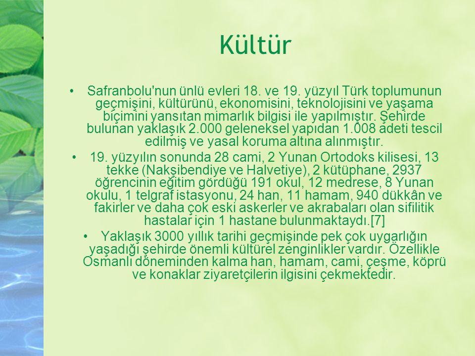 UNESCO nun 17 Aralık 1994 de Dünya Miras Listesi ne aldığı Safranbolu, Türkiye de bulunan yaklaşık 50.000 korunması gerekli kültür ve tabiat varlığının 1.125 ini barındırır.