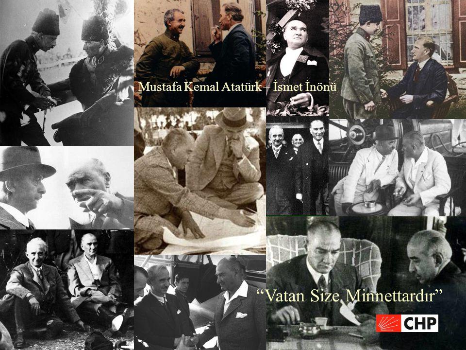 """""""Vatan Size Minnettardır"""" Mustafa Kemal Atatürk – İsmet İnönü"""