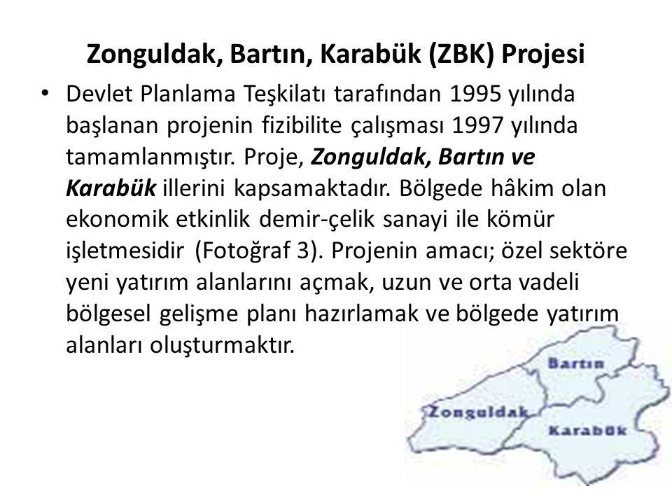 Zonguldak, Bartın, Karabük (ZBK) Projesi Devlet Planlama Teşkilatı tarafından 1995 yılında başlanan projenin fizibilite çalışması 1997 yılında tamamla